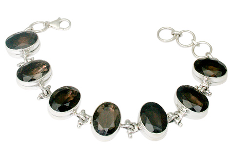 Design 9813: Brown smoky quartz bracelets