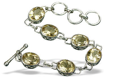Design 9981: yellow citrine engagement, wedding bracelets