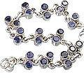 Design 10111: blue iolite engagement bracelets