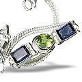 gemstone bracelets in silver