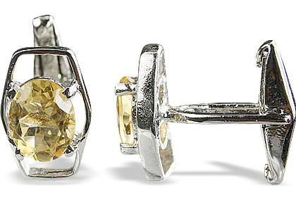 Design 14793: yellow citrine cufflinks