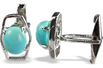 Design 14796: blue turquoise cufflinks