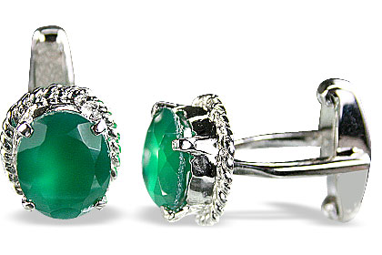 Design 14797: green onyx cufflinks