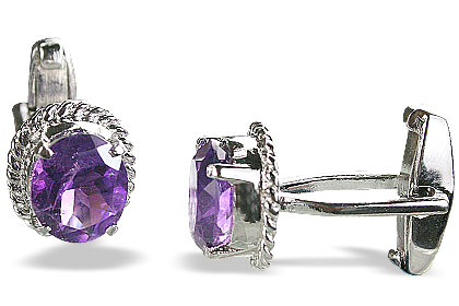 Design 14799: purple amethyst cufflinks