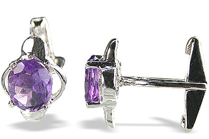 Design 14803: purple amethyst cufflinks
