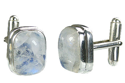 Design 16177: white moonstone cufflinks