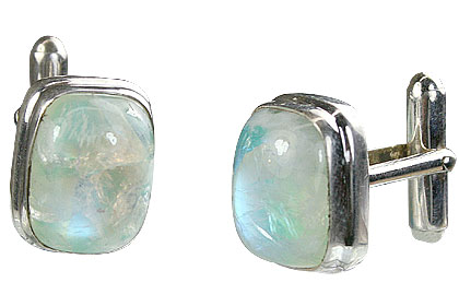 Design 16178: white moonstone cufflinks