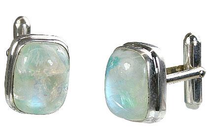 Design 16178: white moonstone cufflinks