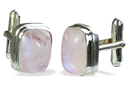 Design 16179: white moonstone cufflinks
