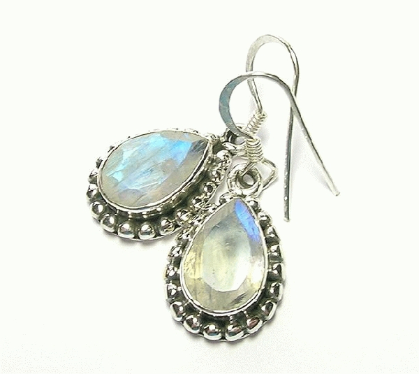 Design 10063: blue moonstone earrings