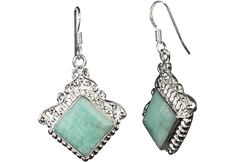 Design 10124: green emerald earrings