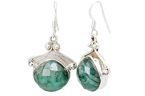 Design 10125: green emerald earrings