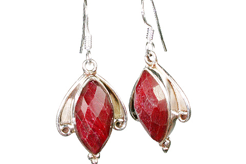 Design 10130: red ruby earrings