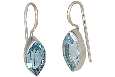 Design 10675: blue blue topaz earrings