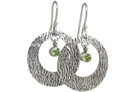 Design 10697: green peridot art-deco earrings