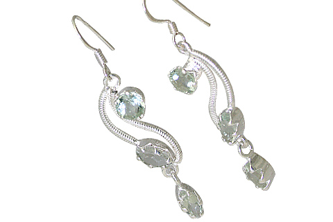 Design 10706: green green amethyst earrings