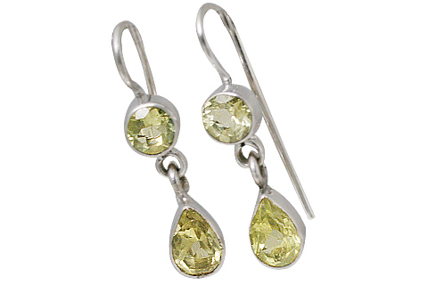 Design 10722: yellow lemon quartz earrings
