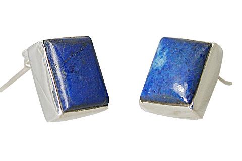 Design 10769: blue lapis lazuli post earrings