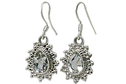Design 10778: white white topaz drop earrings