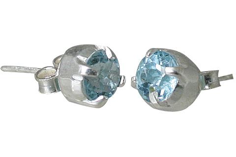 Design 10781: blue blue topaz post, studs earrings