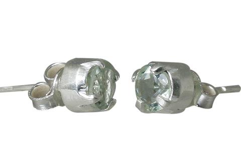 Design 10782: green green amethyst post, studs earrings