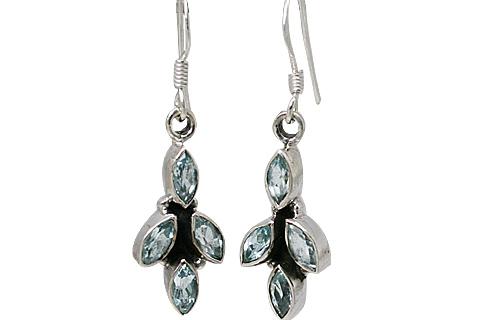 Design 10783: blue aquamarine earrings