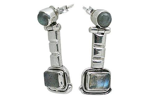 Design 10807: blue labradorite post earrings