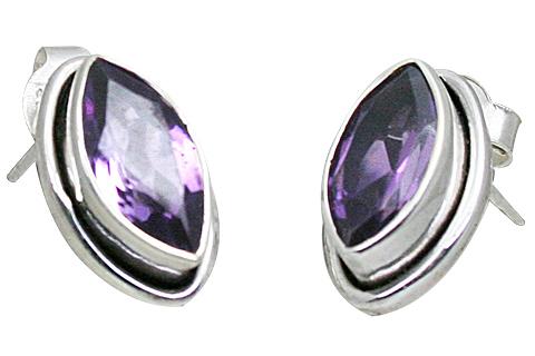 Design 10823: purple amethyst post earrings
