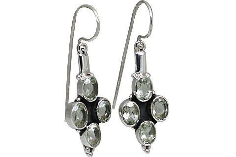 Design 10891: green green amethyst earrings