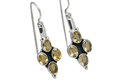 Design 10896: yellow citrine earrings