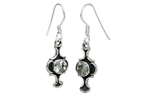 Design 10898: green green amethyst earrings