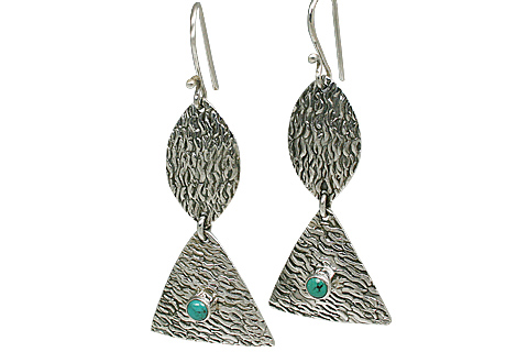 Design 11095: green,white turquoise estate earrings