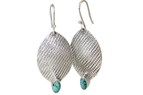 Design 11111: blue,white turquoise earrings