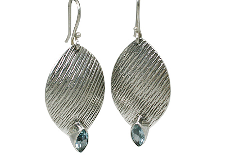 Design 11112: blue blue topaz earrings
