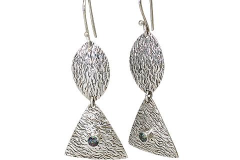 Design 11120: white mystic quartz earrings