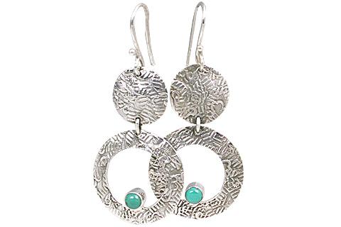 Design 11127: green turquoise earrings