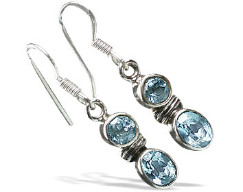 Design 11257: blue blue topaz earrings