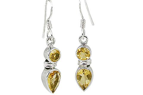 Design 11261: yellow citrine earrings