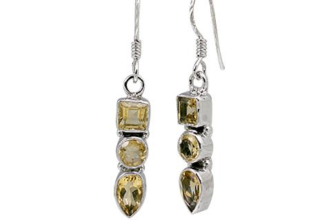 Design 11320: yellow citrine earrings
