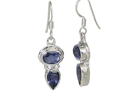 Design 11324: blue iolite contemporary earrings