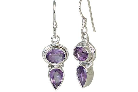 Design 11326: purple amethyst drop earrings
