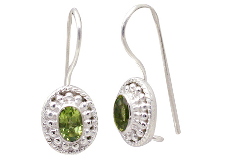 Design 11364: green peridot estate earrings