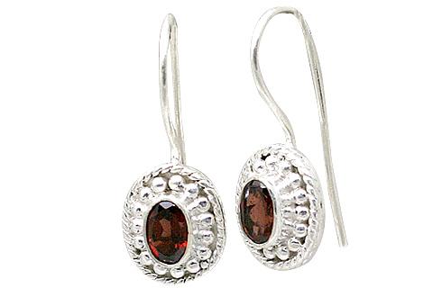 Design 11365: red garnet estate earrings