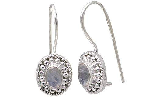 Design 11366: white moonstone earrings