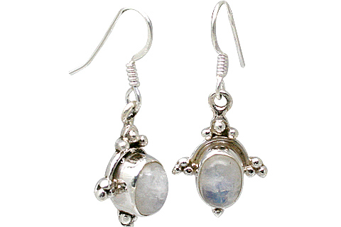 Design 11367: blue,white moonstone earrings