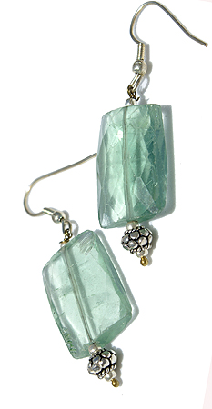Design 11619: green fluorite earrings