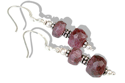 Design 11879: pink ruby earrings