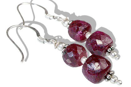 Design 11880: pink ruby earrings