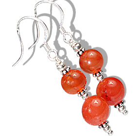 Design 11893: orange carnelian earrings