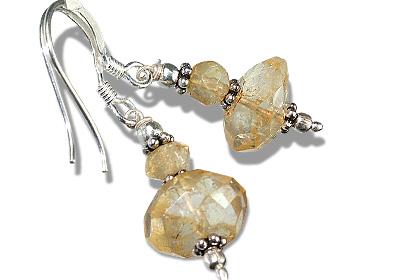 Design 11904: yellow citrine earrings